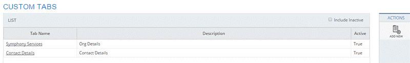 Configuring Custom Tabs - Denali